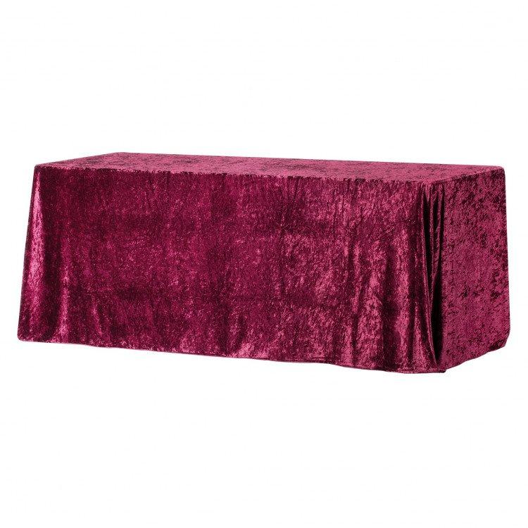 Red, Velvet Floor Length Rectangle