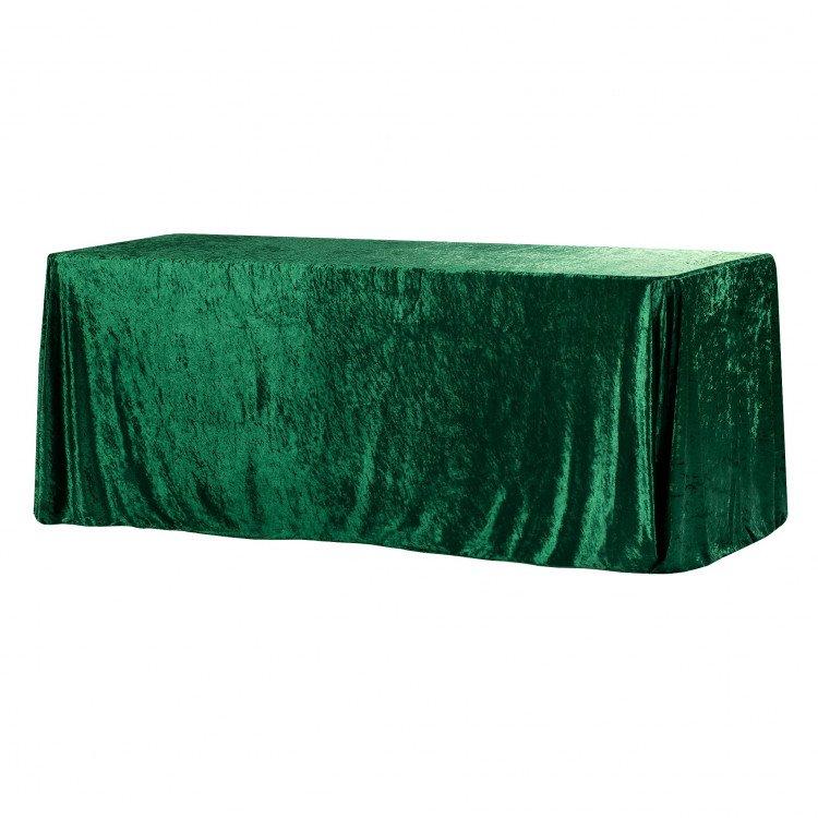 Green, Velvet Floor Length Rectangle