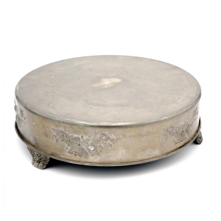Antique Metal Cake Stand, Round