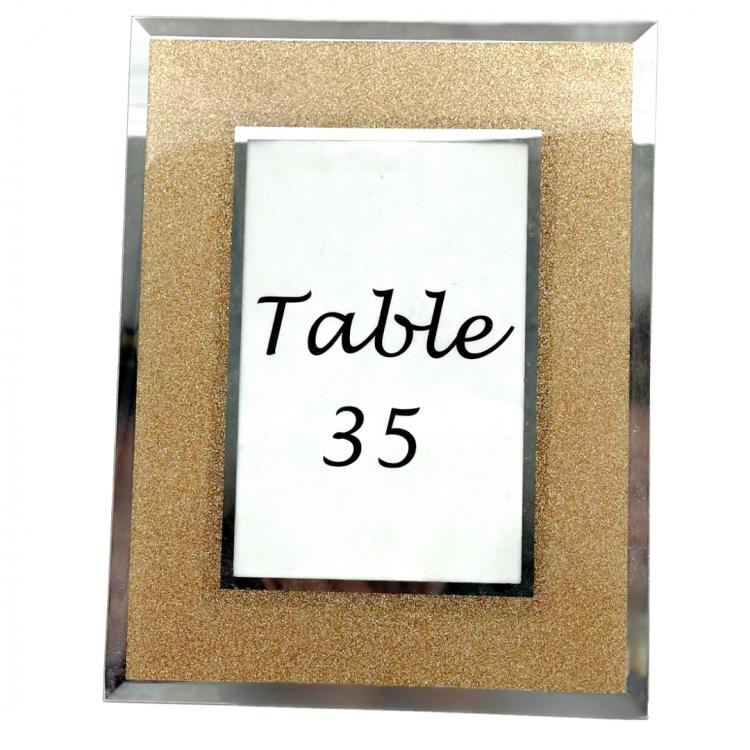 Gold Sparkle Frame Table Number
