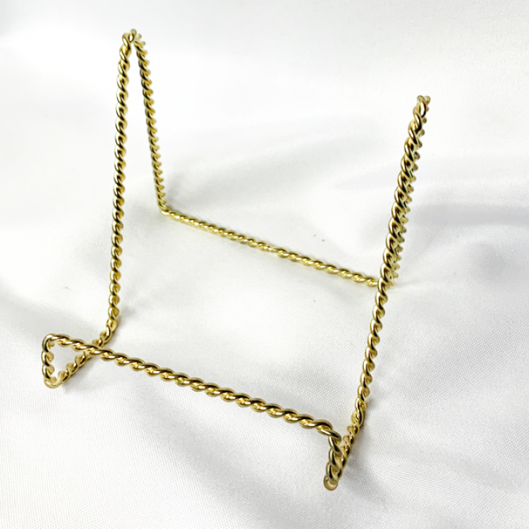 Gold Table Number Stand