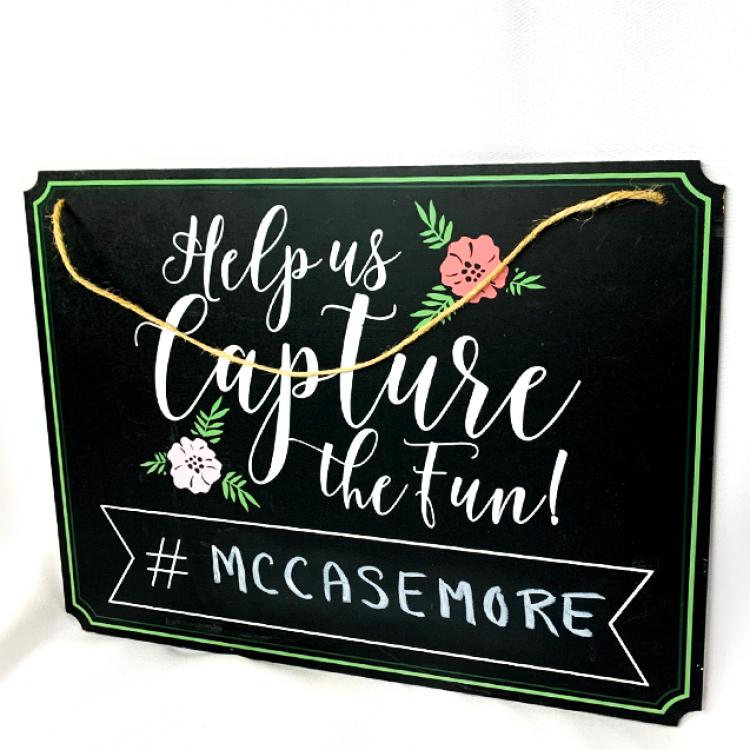 Hashtag Chalkboard Sign
