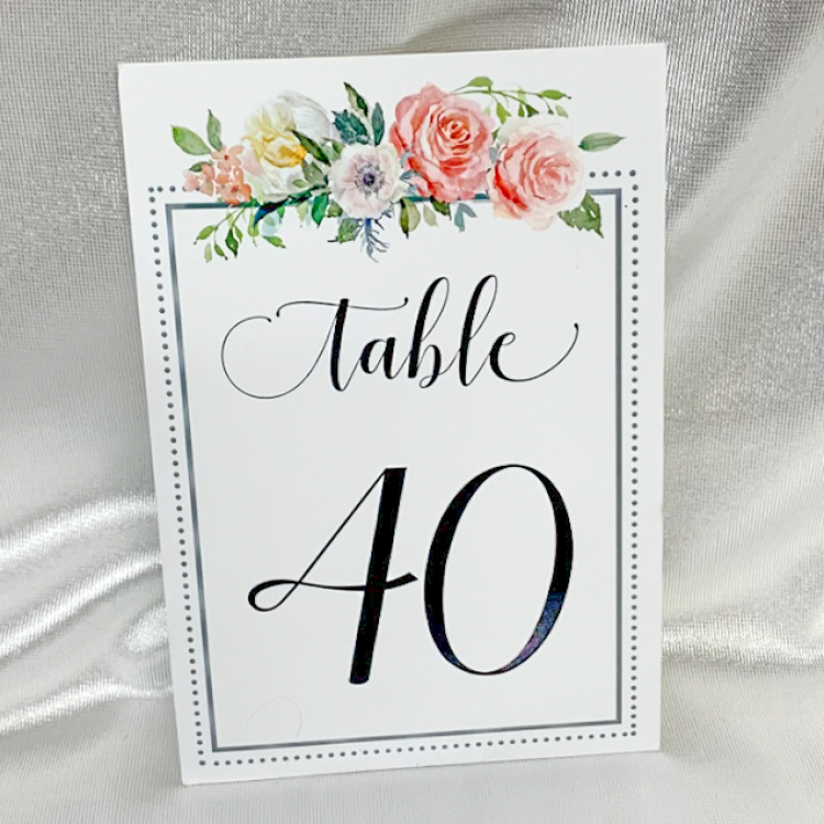 Paper Bouquet Table Numbers
