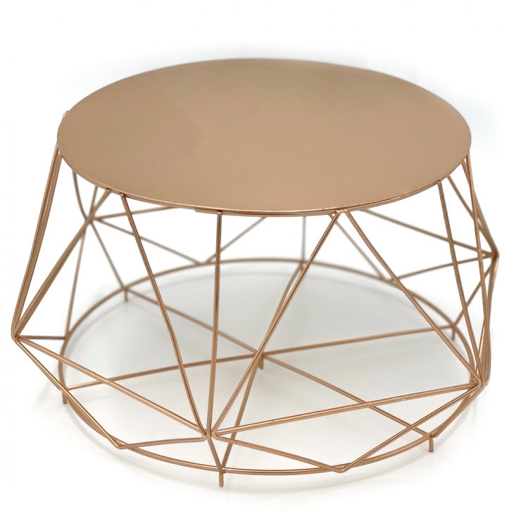 Rose Gold Cake Stand, Tall