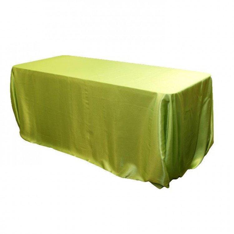 Green, Apple Taffeta Floor Length Rectangle