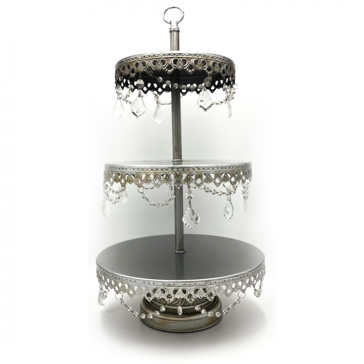 Silver Crystal Cupcake Stand