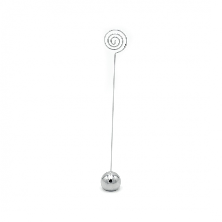 Silver Swirl Table Number Holder
