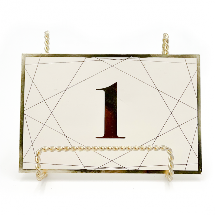 Gold Geo Table Number