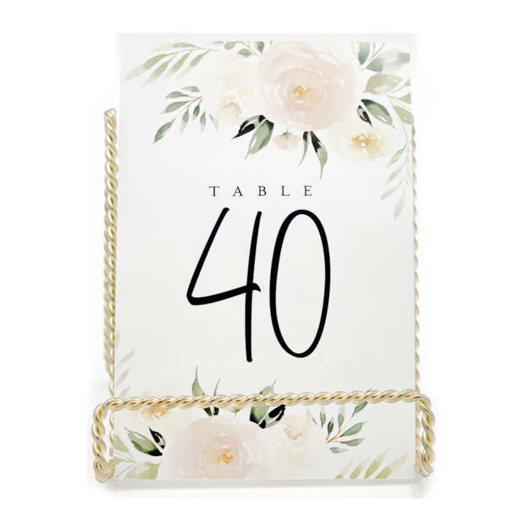 Blush Flower Table Number