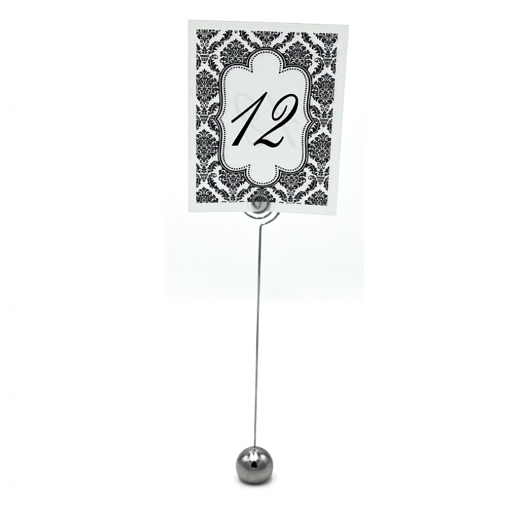 Black and White Demask Table Number