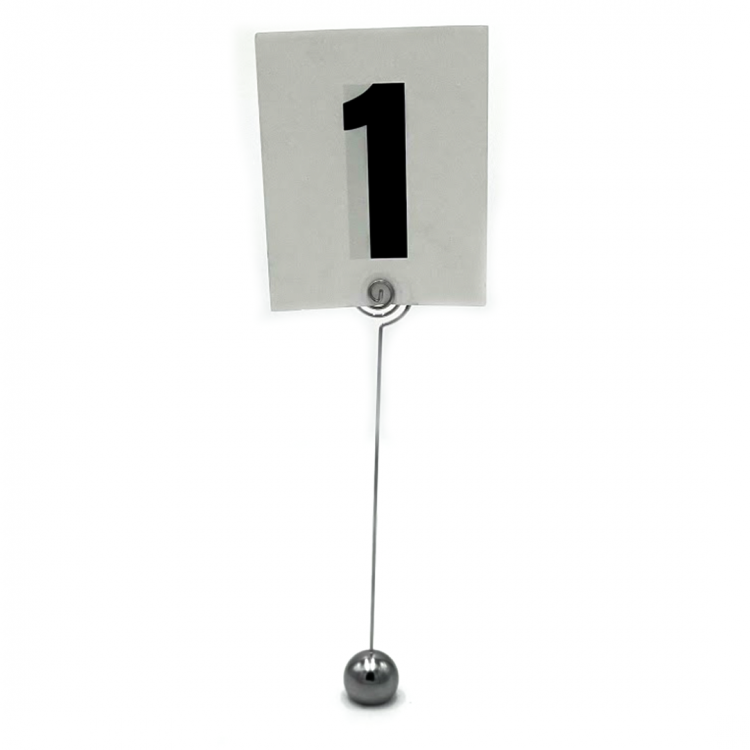 Small Black and White Table Number
