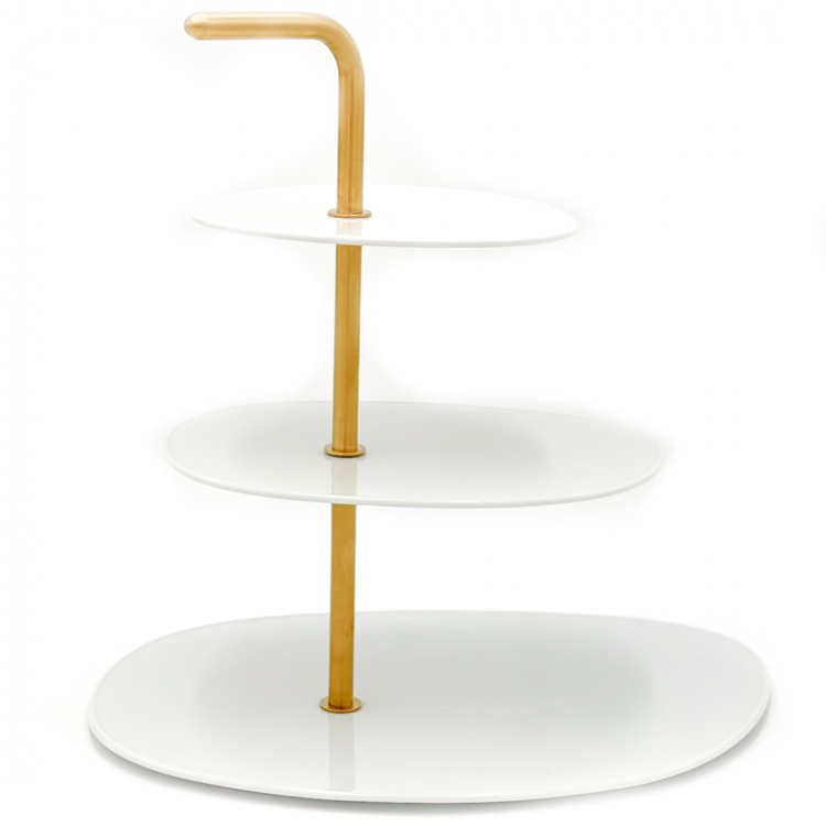 White and Gold Cupcake Stand